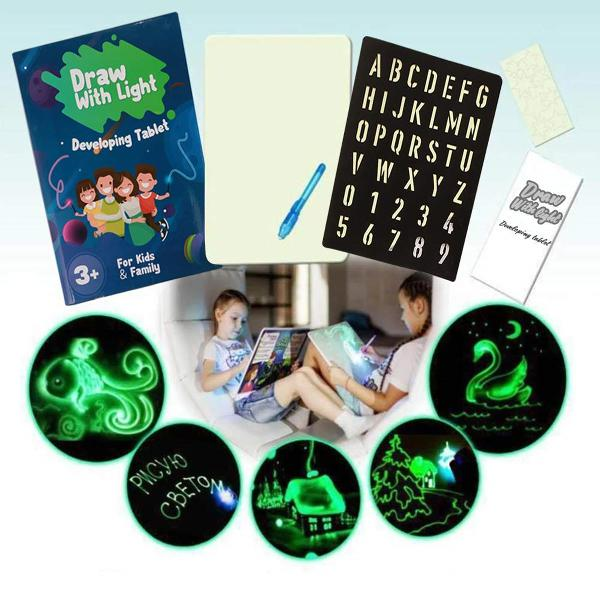 A3 a4 a5 size 3d childrens fluorescent drawing board toy