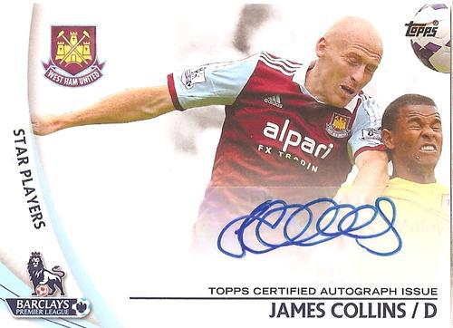 JAMES COLLINS - TOPPS PREMIER GOLD 2013/14 - AUTHENTIC