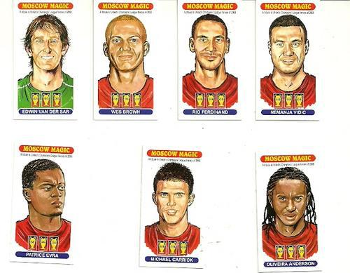 MANCHESTER UNITED (MOSCOW MAGIC) FULL SET OF 15 CARDS