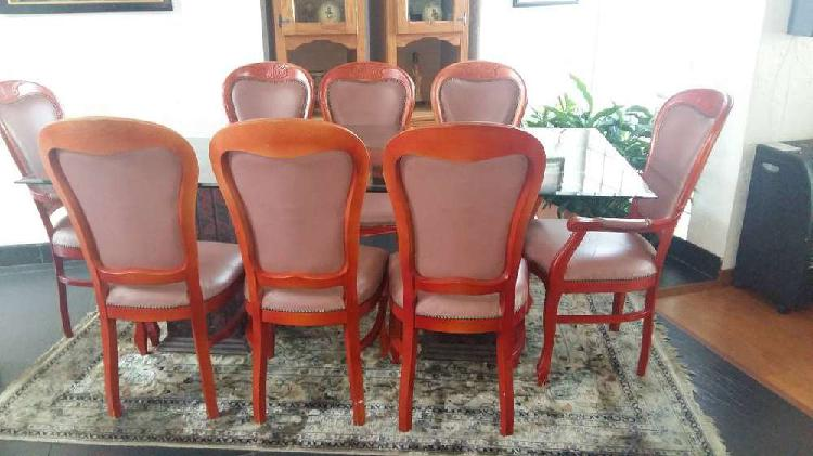 Pure leather dining room chairs x10