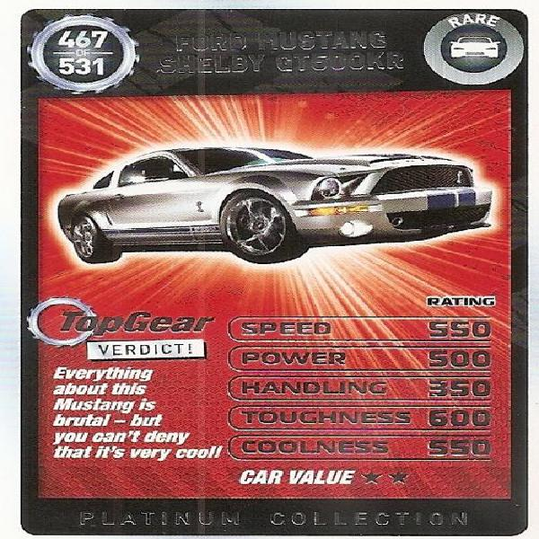 TOP GEAR TURBO CHALLENGE PLATINUM - FORD MUSTANG SHELBY
