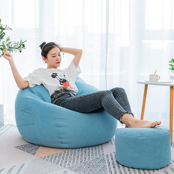Large classic lazy bean bag chair sofa seat covers indoor