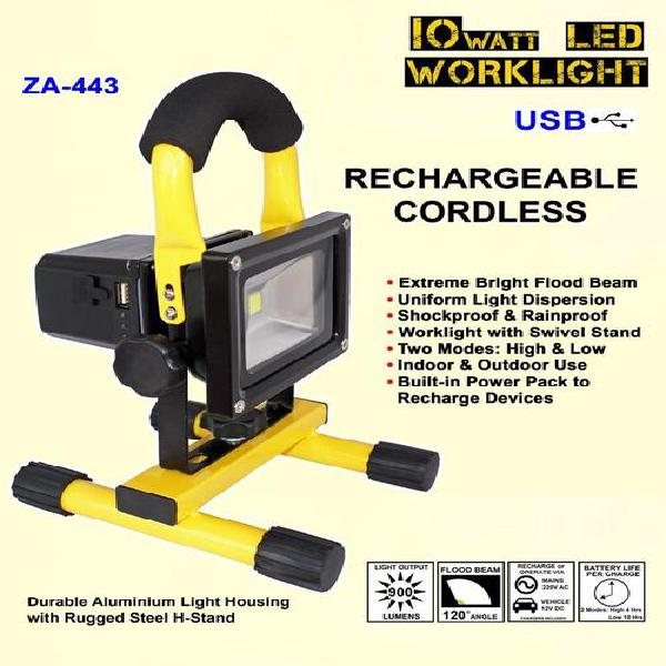 Rechargeable 10 watt led worklight - za-443