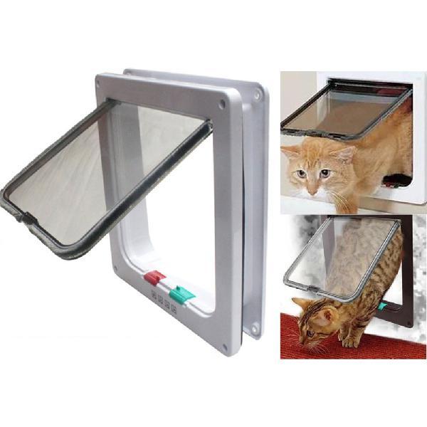 S/m/l 4 way locking intelligent control pet door waterproof