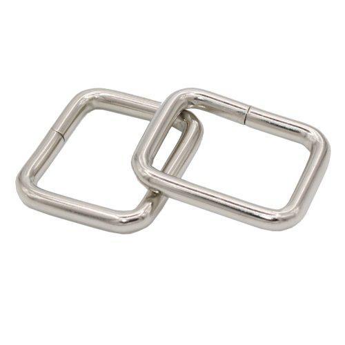 20 pieces metal square buckles bag strap connectors webbing