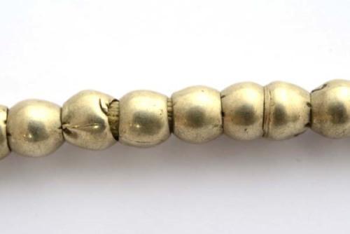 Ethiopian beads, metal, dark silver colour, 6mm, 1strand,