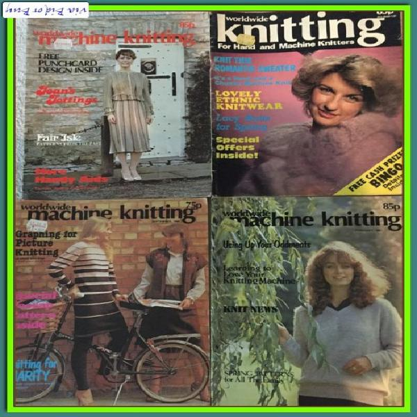 Vintage patterns a (4 books) - worldwide knitting for hand