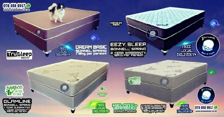 Beds at factory prices - brand new with free delivery from