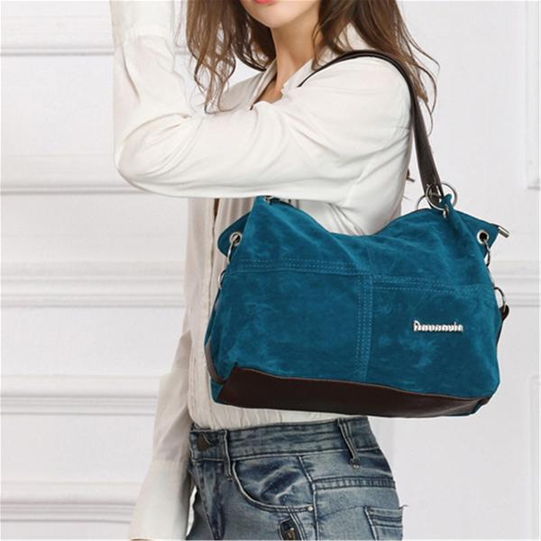 Fashion women lady flannel handbag shoulder bag crossbody