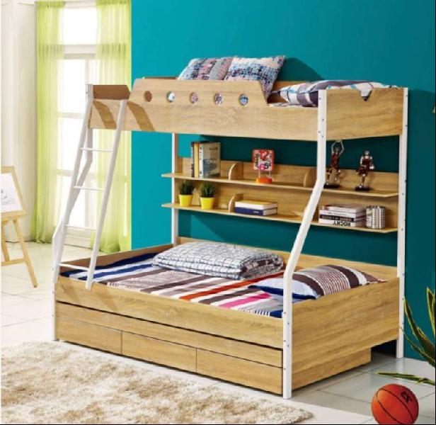Kids double bunk bed with trundle bed from cielo