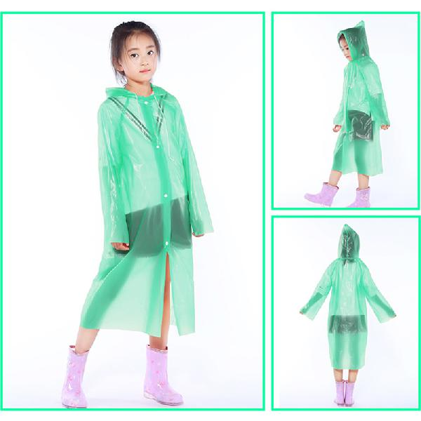 PEVA Children Raincoat Camping Travel Thicken Disposable