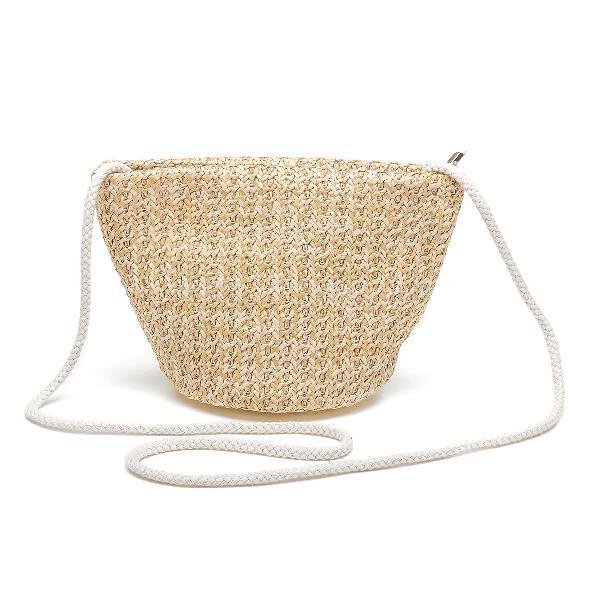 3L Women Straw Bag Woven Beach Handbag Shoulder Tote Outdoor