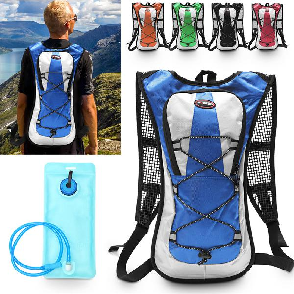 5l polyester backpack 2l water bladder bag hydration pack