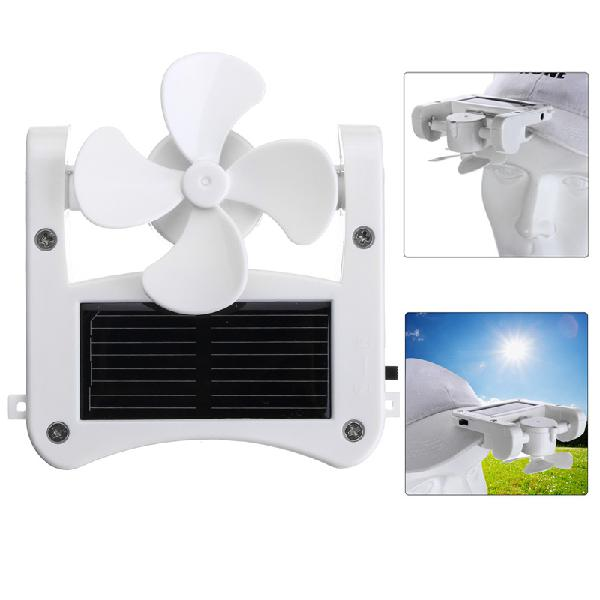 Usb fan mini portable solar cap clip solar panel powered for