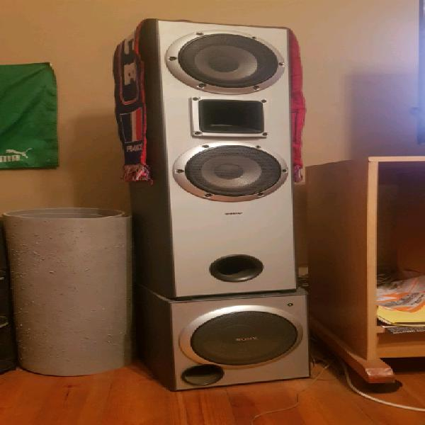 Surround stereo system speakers