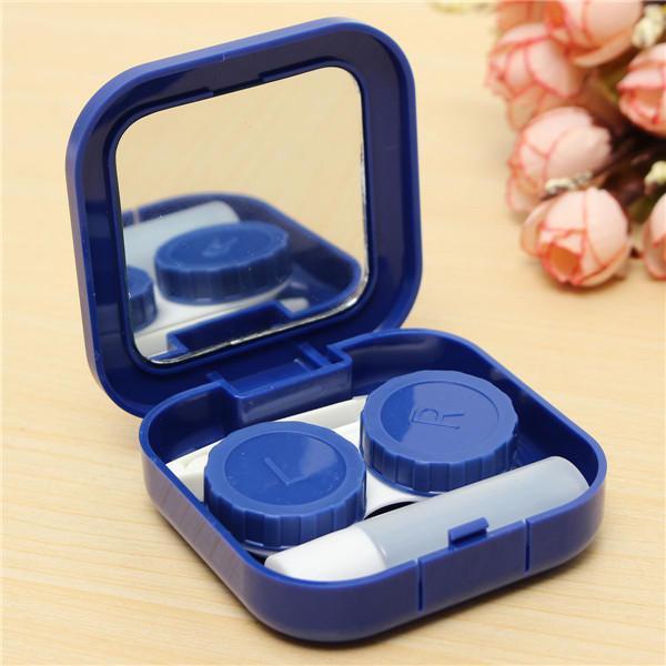 4 colors portable cute travel contact lens case eye care kit
