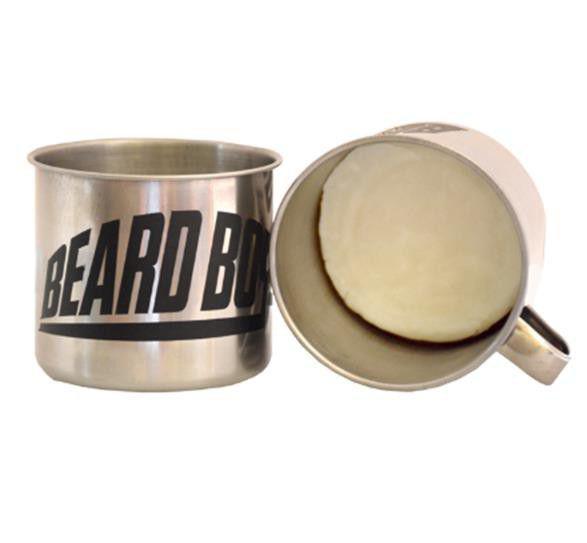 Beard Boys Silver Shaving Soap & Shaving Container