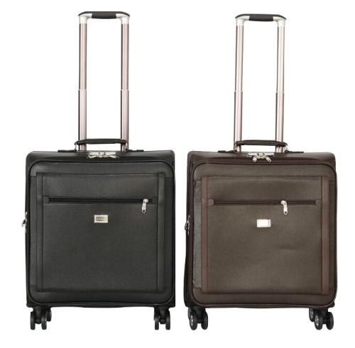 Faux leather trolley briefcase laptop travel cabin luggage