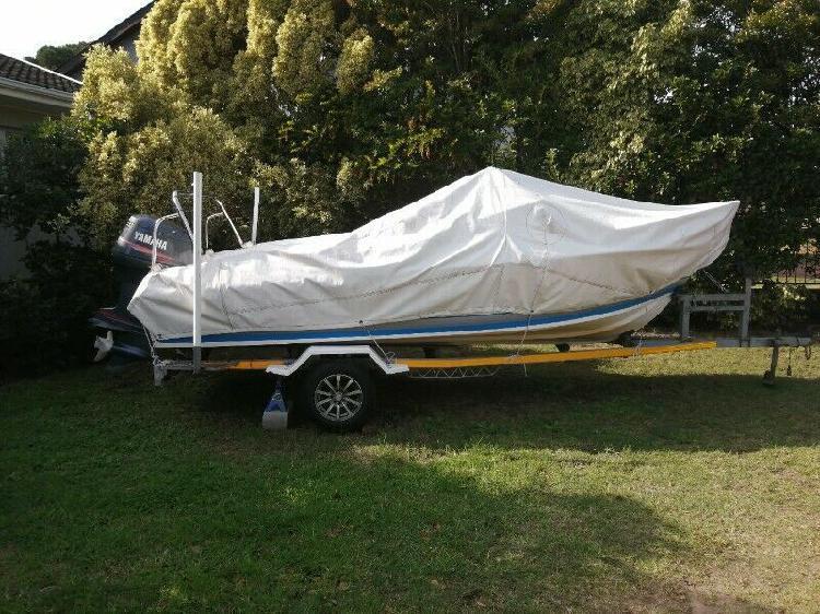 Flamingo 17ft cabin boat with 115 yamaha
