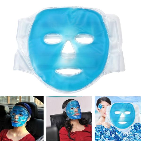 Full face cooling mask improving blood circulation hot gel