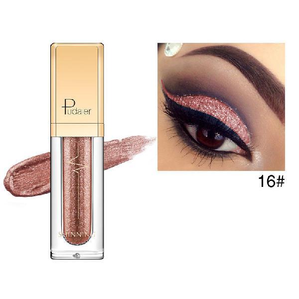 Pudaier diamond shimmer eyeshadow liquid waterproof eye