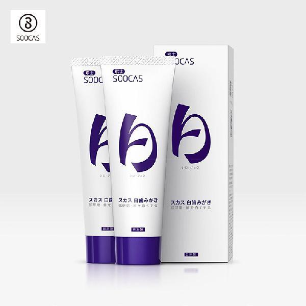 Soocas 2pcs teeth whitening oral hygiene menthol toothpaste