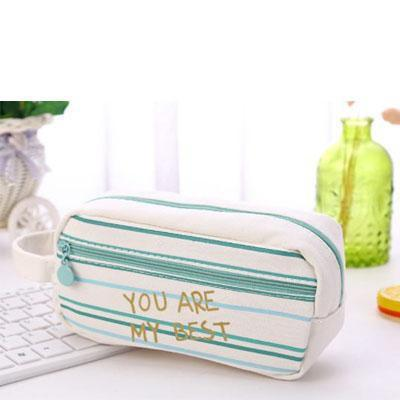 Stationary case with inspirational quotes - green - you are