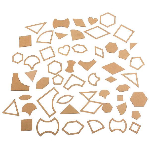 54pcs handmade mixed quilt acrylic templates diy patchwork