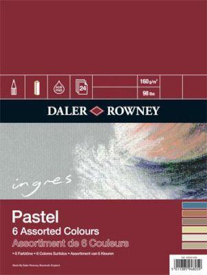 Daler rowney ingres pastel paper spiral - 6 ass. colours
