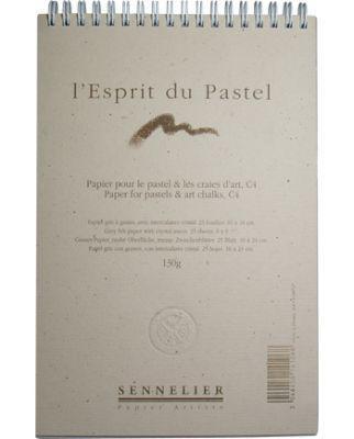 Sennelier soft pastel paper pad - grey grained felt paper