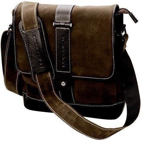 Adpel Italy Enzo-Design Leather Flap Messenger Bag