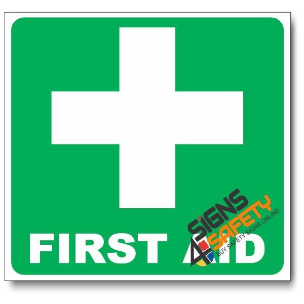 GA1B) First Aid Equipment Sign - 150mm * 150mm 1.2mm