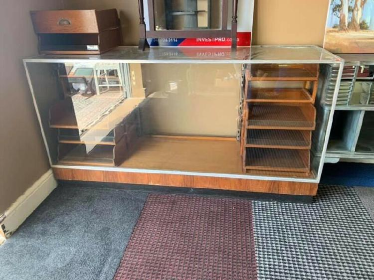 Old fashioned Glass display unit