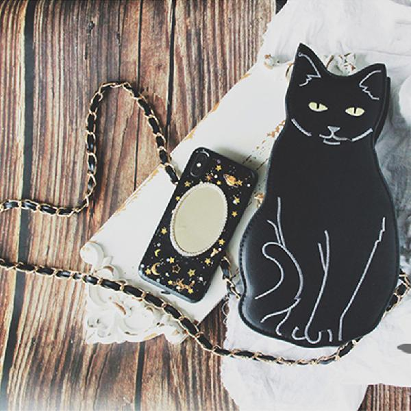 Women crossbody bag cat fashion pattern handbag
