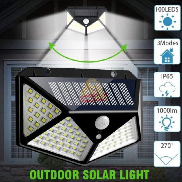 100 led super bright solar wall light, motion sensor with 3