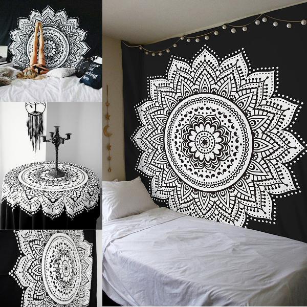 Indian ethnic dorm decor wall hanging hippie mandala