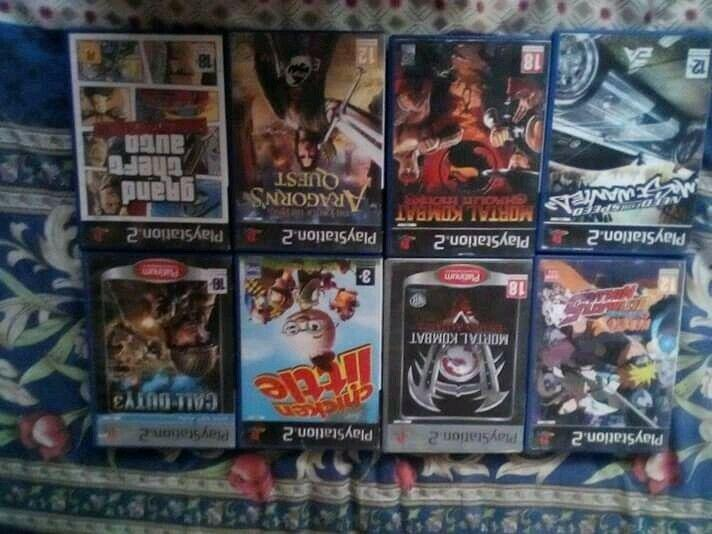 Ps2 games, memory card, cables and controllers