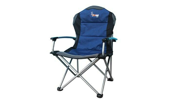 Afritrail sable deluxe padded solid arm folding chair