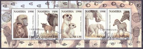 Namibia 1998 animals with their young cto sheet