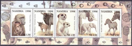 Namibia 1998 animals with their young umm sheet