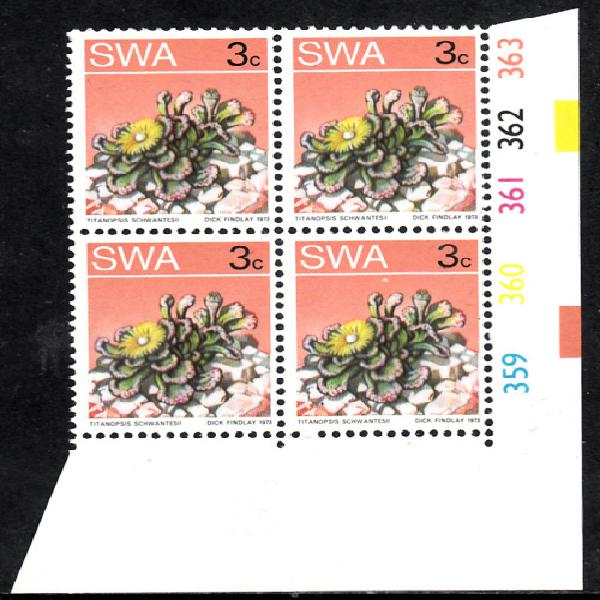 Swa 2nd definitive issue (succulents): 3c control 359-363.