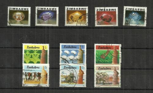 Zimbabwe - collection of definitive issues stamps fine used