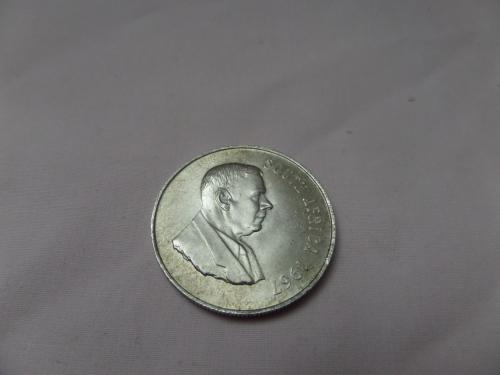 1967 silver republic of south africa one rand coin 2/2