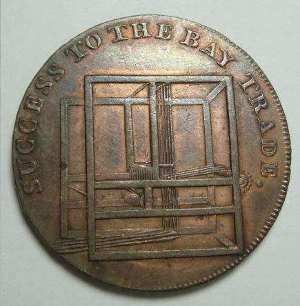 Great britain: colchester halfpenny token, success to the