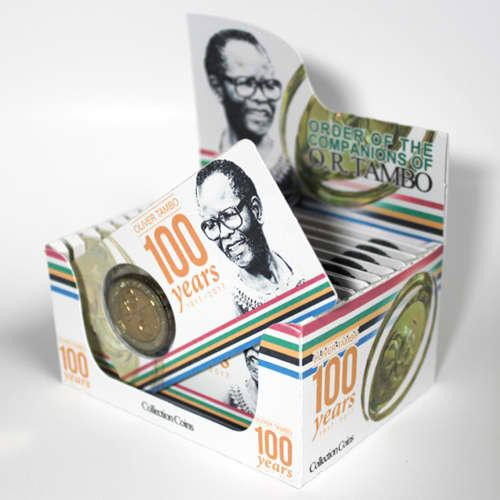 O.r. tambo centenary five rand coin flip limited edition -