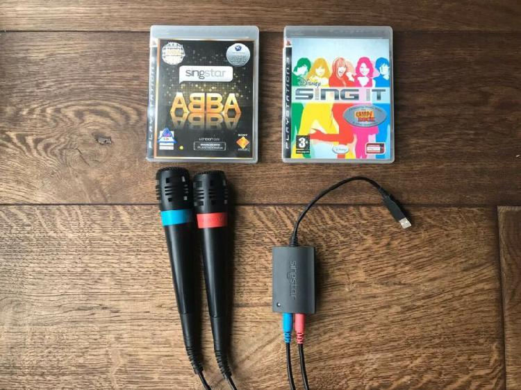 Ps3 games - singstar abba and disney sing it with 2