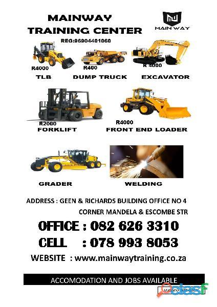Grader, excavator, dump truck training 0655399244