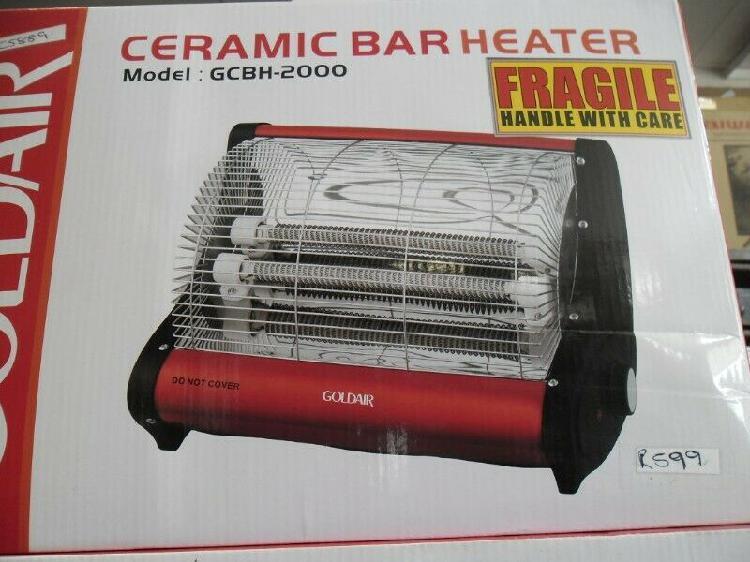 Goldair ceramic bar heater new