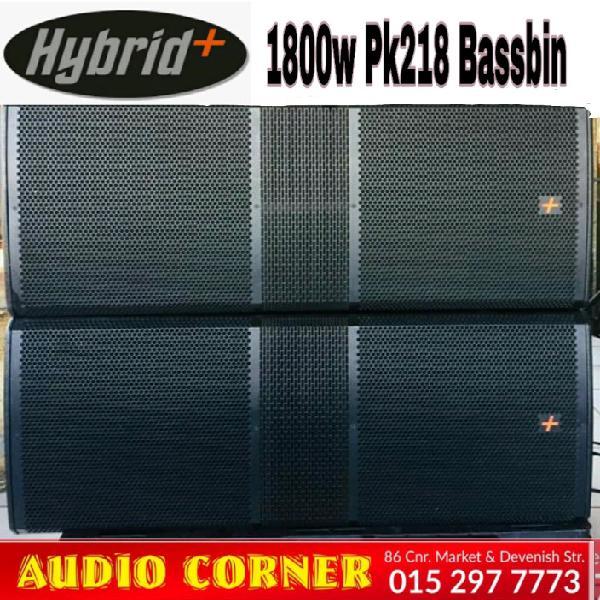 Hybrid + bassbins new pk218s 1800w