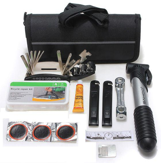 Bike bicycle cycling tool tire tyre multi repair kits bag